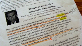 An example of student close reading notes