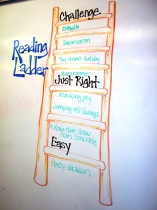 """""""The goal of reading ladders,"""" writes Teri Lesesne, """"is to slowly move students from where they are to where we would like them to be."""""""