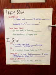 They Say, I Say Options -Anchor Chart